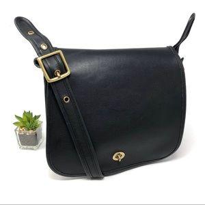 Coach Stewardess Bag 9525 Black Leather Vintage